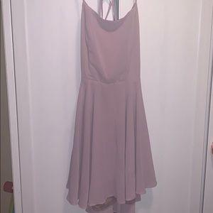 Lilac Flowy Open Back Dress